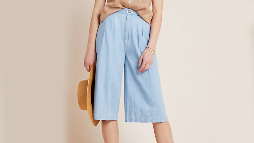 Anthropologie culotte shorts for women over 50