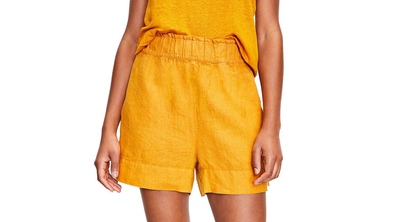 linen pull-on shorts