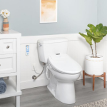 bathroom featuring omigo bidet toilet seat