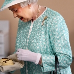Queen Elizabeth with scones