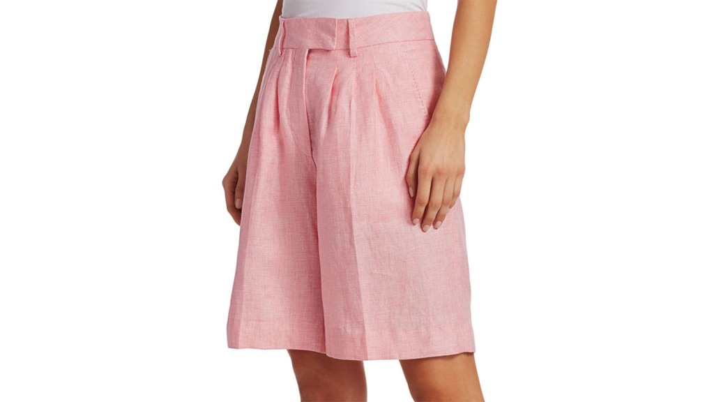 pink flowy shorts for women over 50
