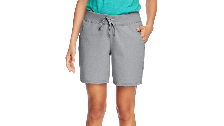 walmart shorts hanes gray cotton