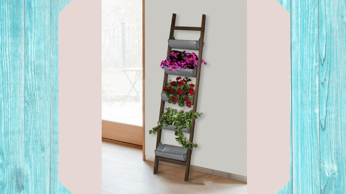 ladder wall planters