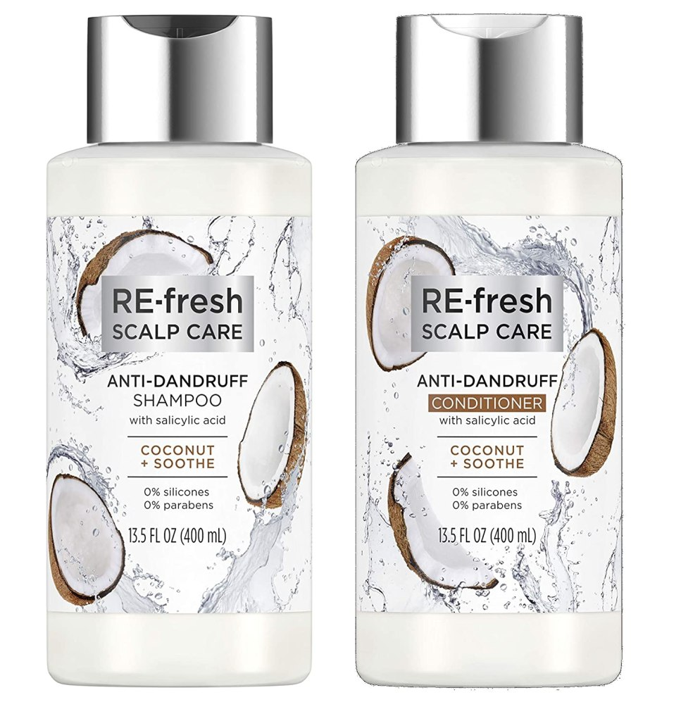 Re-Fresh Scalp Care Coconut & Soothe Salicylic Acid Shampoo and Conditioner