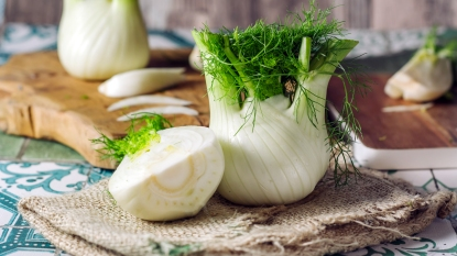 Sliced and whole fennel