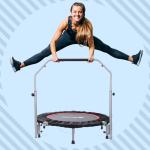woman jumping on mini trampoline