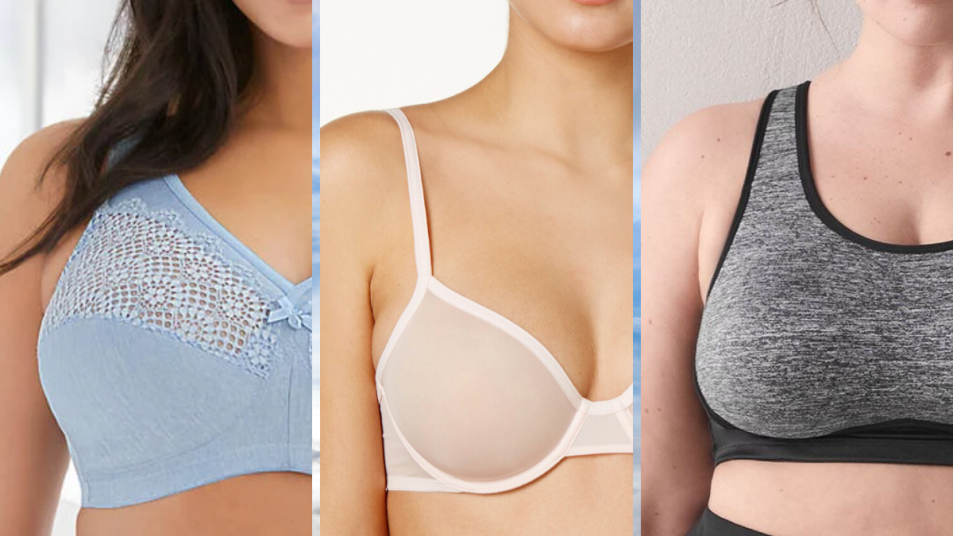 Moisture wicking bras