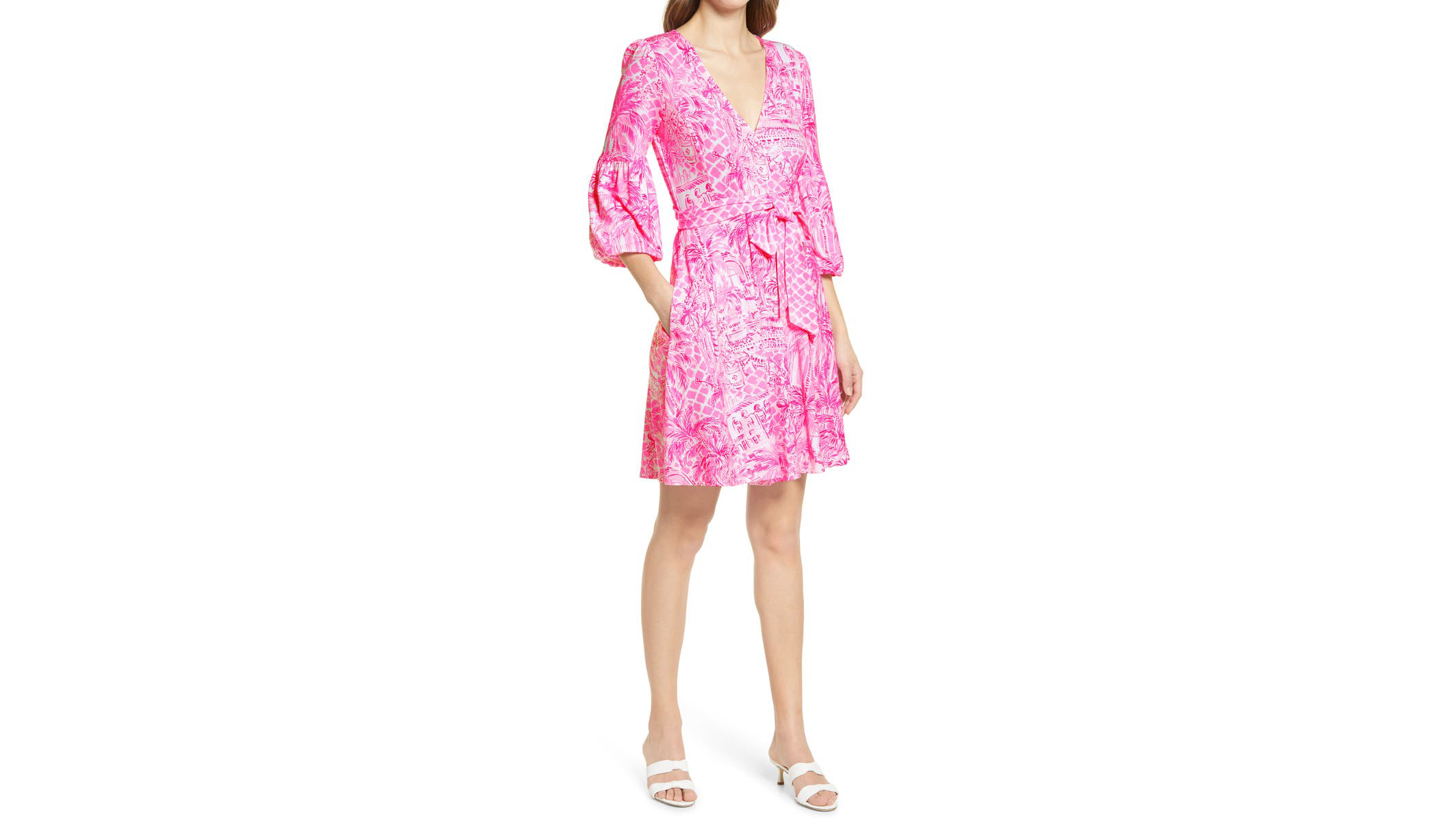 Lilly Pulitzer chace print faux wrap dress