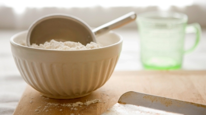 bowl of flour