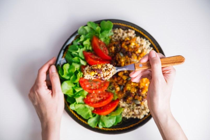 Bowl of plant-based food