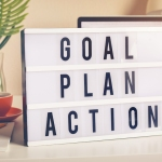 "Sign reading ""goal, plan, action"""