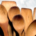 Variety of wooden spoons