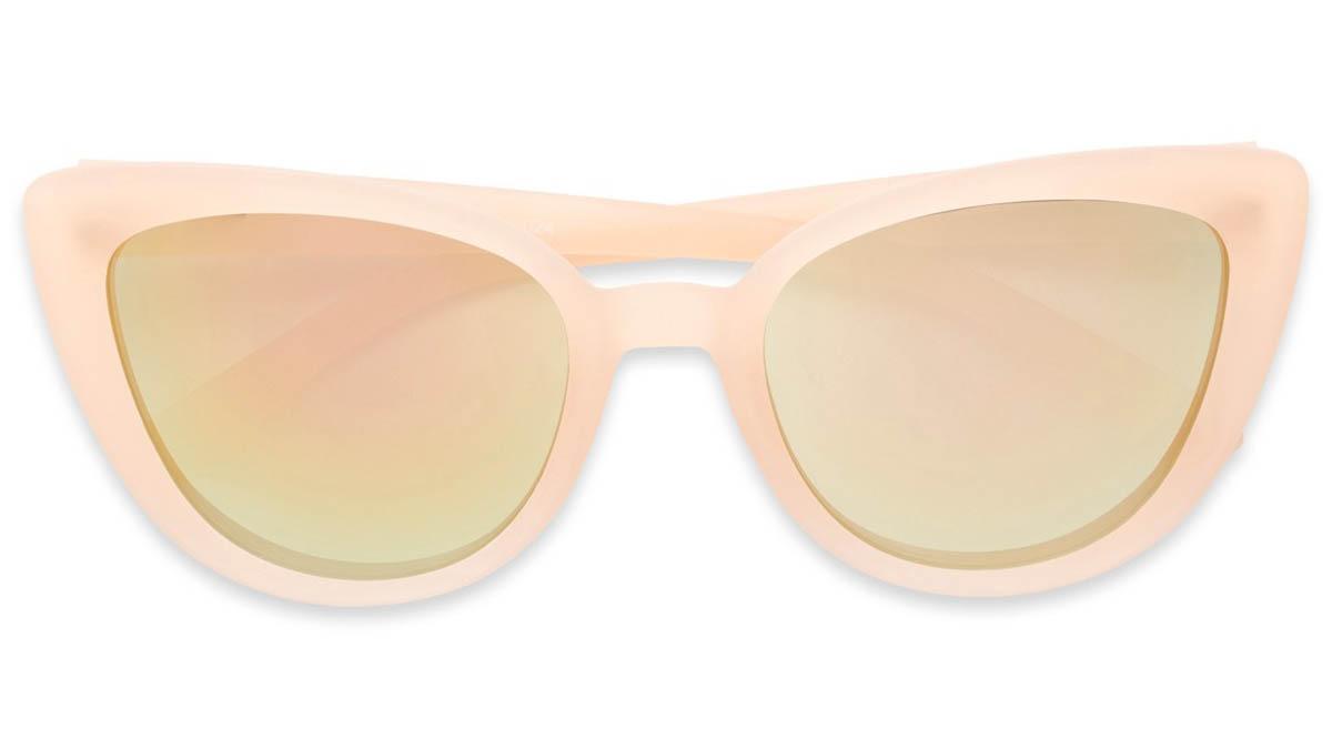 pink mirrored cat eye sunglasses