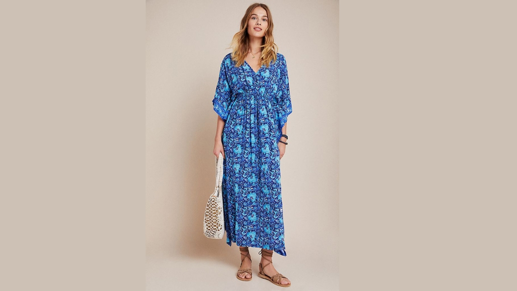 anthropologie caftan dress