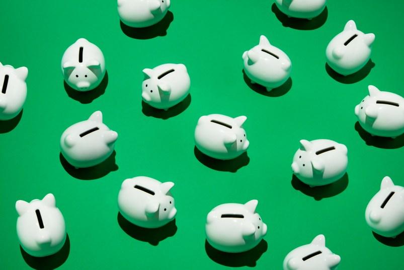 white piggy banks