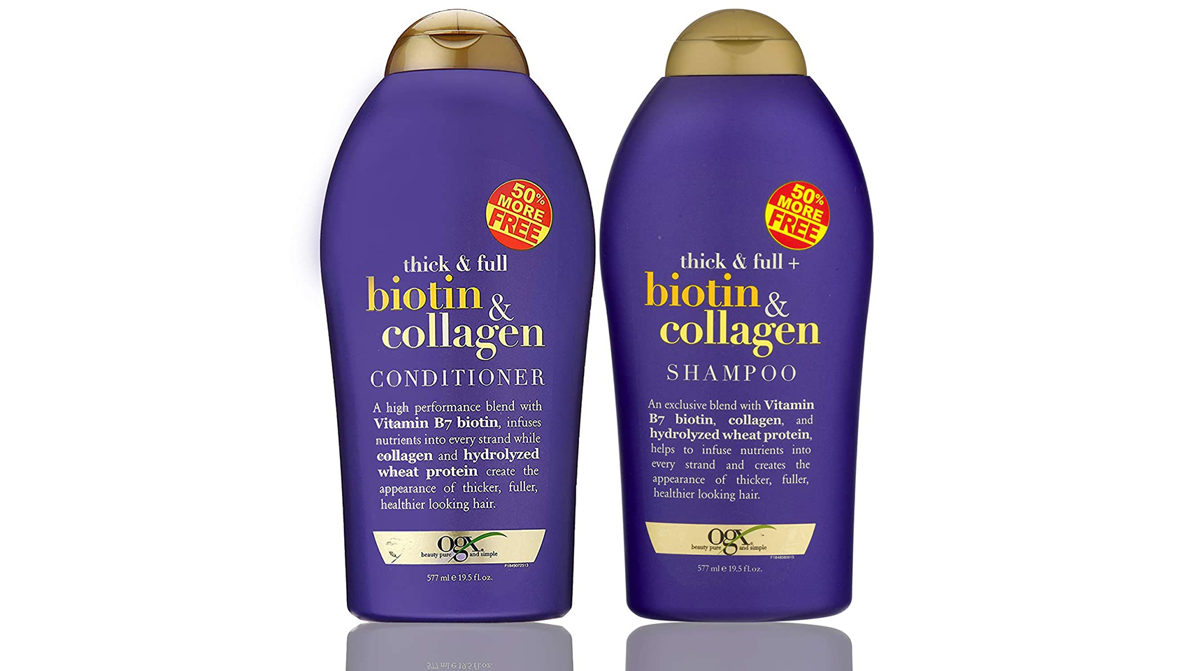 OGX biotin and collagen shampoo and conditioner