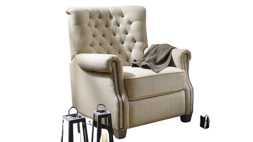 tufted back affordable recliner