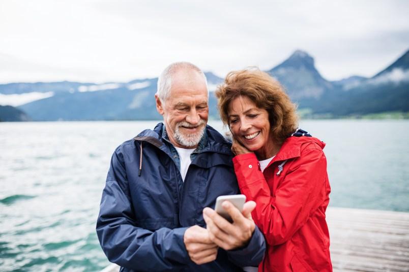 happy couple enjoying retirement
