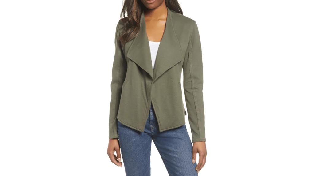 draped olive blazer