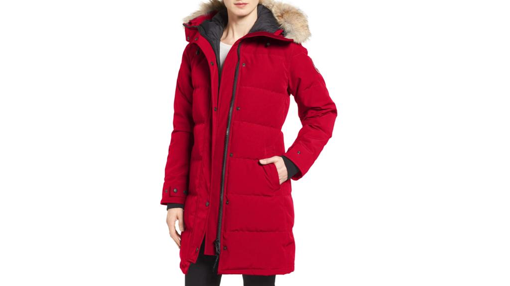red canada goose coat