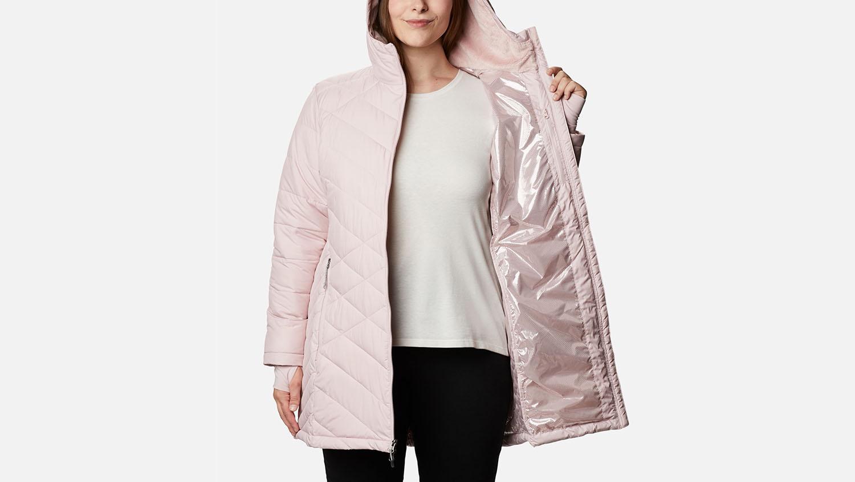 pink columbia heavenly hooded coat