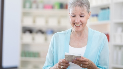 Woman Buying Her Prescription