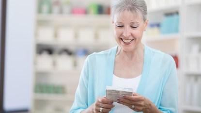 Woman Buying Her Prescription