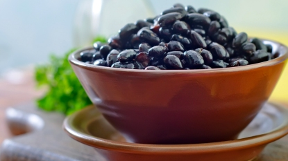 Bowl of black beans