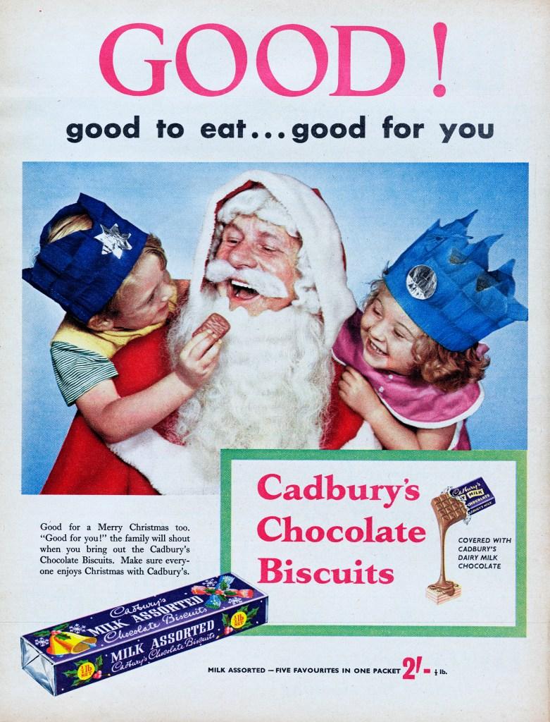 Cadbury chocolate ad from 1956