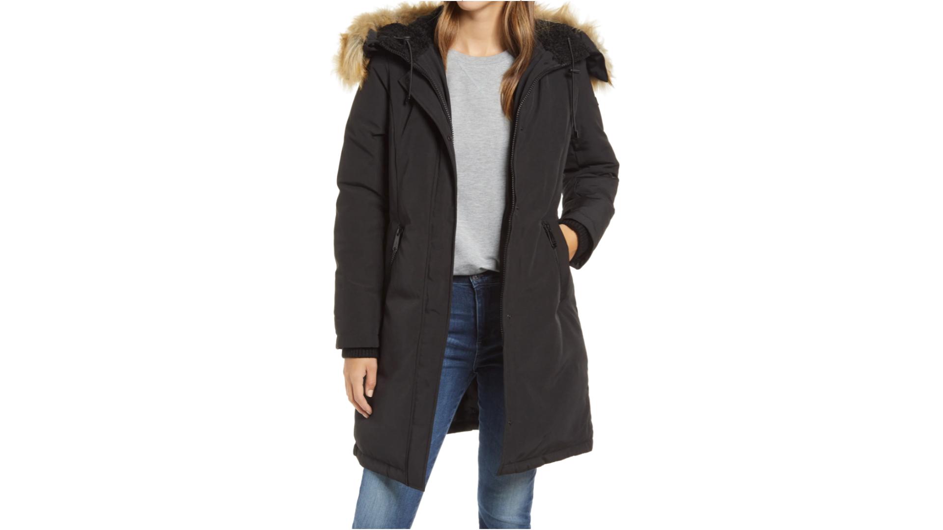 sam edelman faux fur coat best women's winter coats for extreme cold