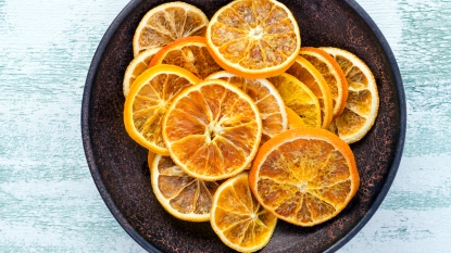 Baked orange slices