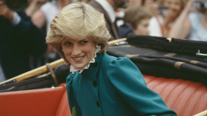 Princess Diana Smiling At A Crowd