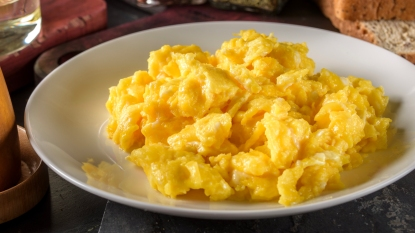 Plate of scrambled eggs