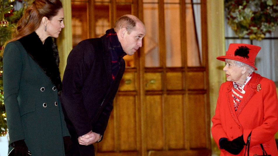 Kate Middleton, Prince William, and Queen Elizabeth