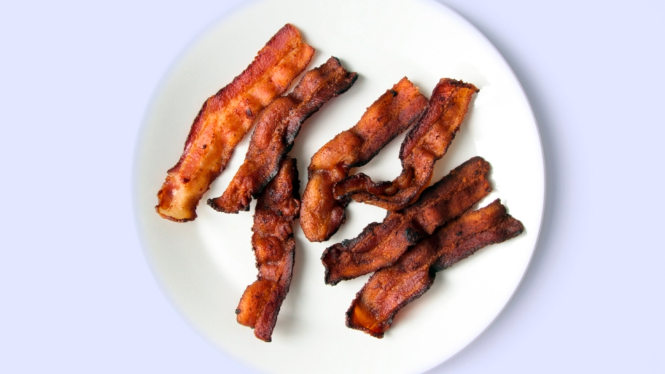 Plate of bacon