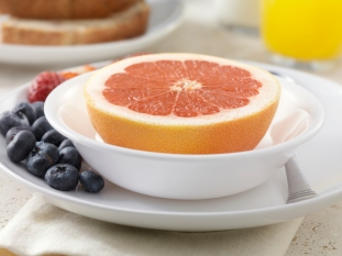 grapefruit and fresh fruit