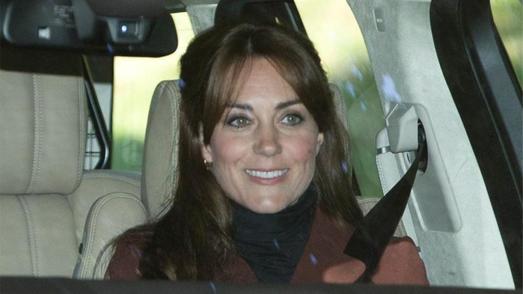 Kate Middleton in car