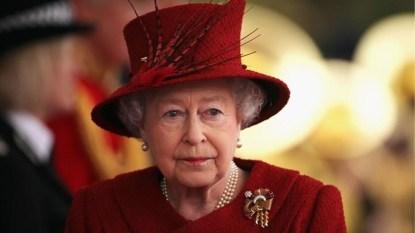 Queen Elizabeth looking off into the distance