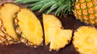 Sliced Fresh Pineapple