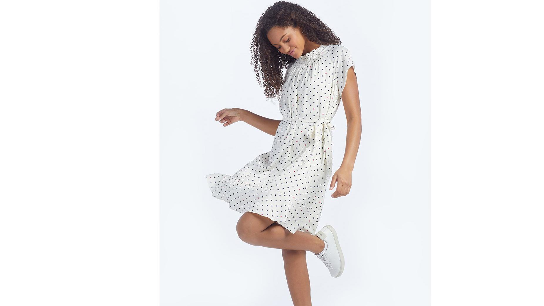 SummerSalt Silky flutter sleeve dress