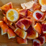 citrus rinds in a pile