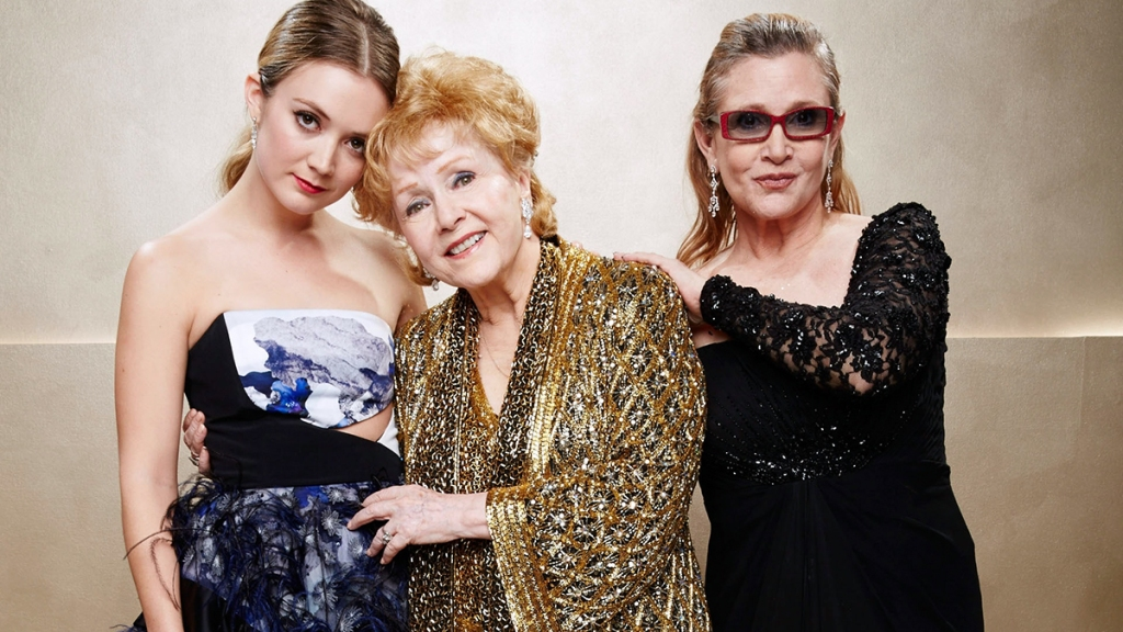 Debbie Reynolds, Carrie Fisher, and Billie Lourd