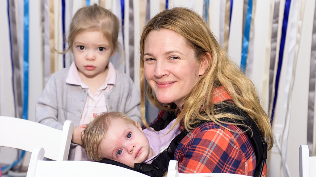 Drew Barrymore with her daughters