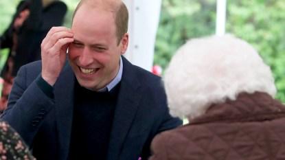 Prince William blushing