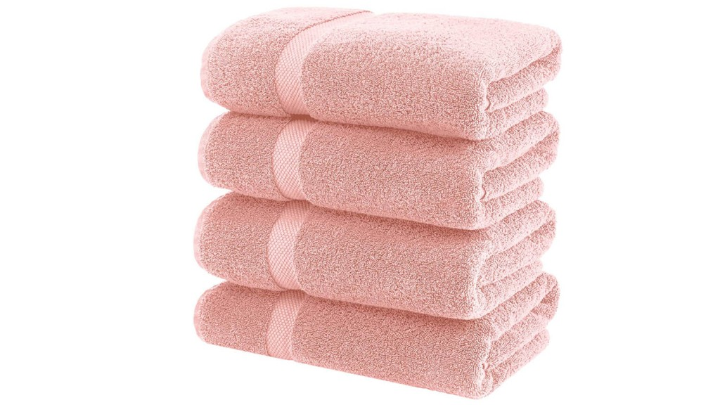stack of pink towels