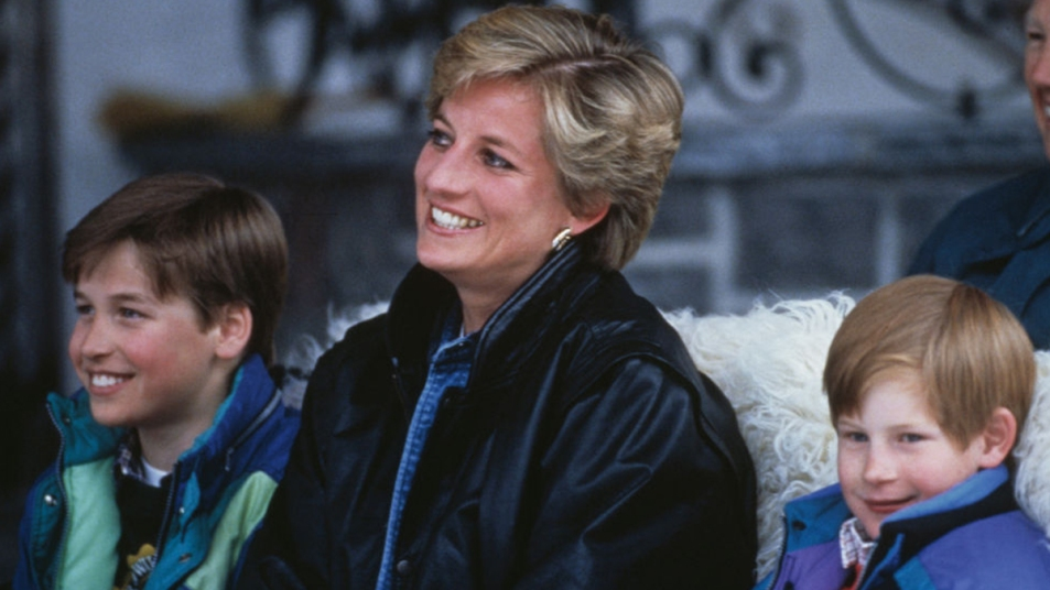 Princess Diana and Prince William and Harry in 1993