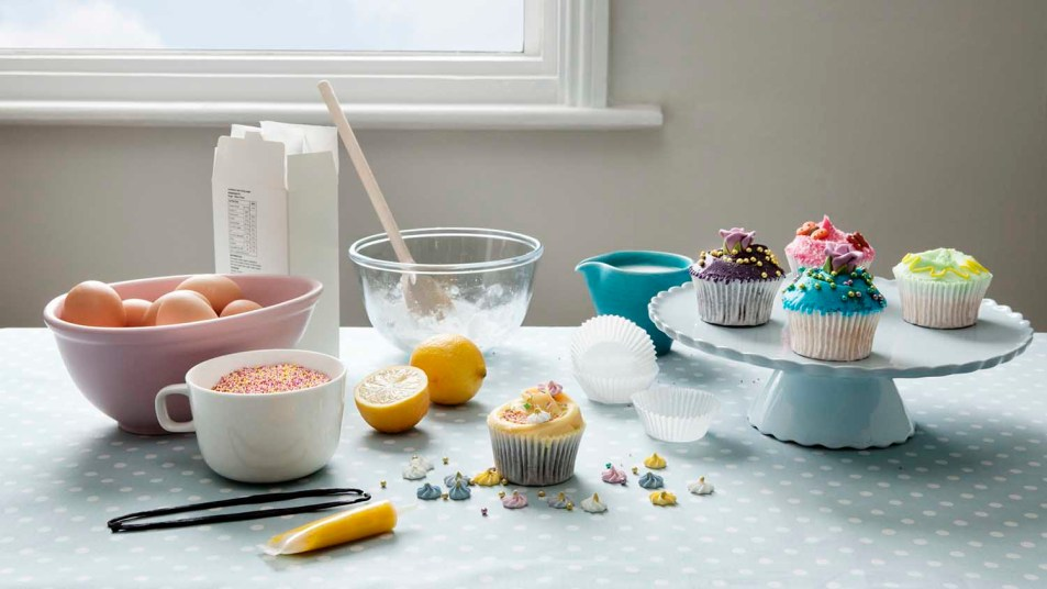 baking cupcakes for essential workers