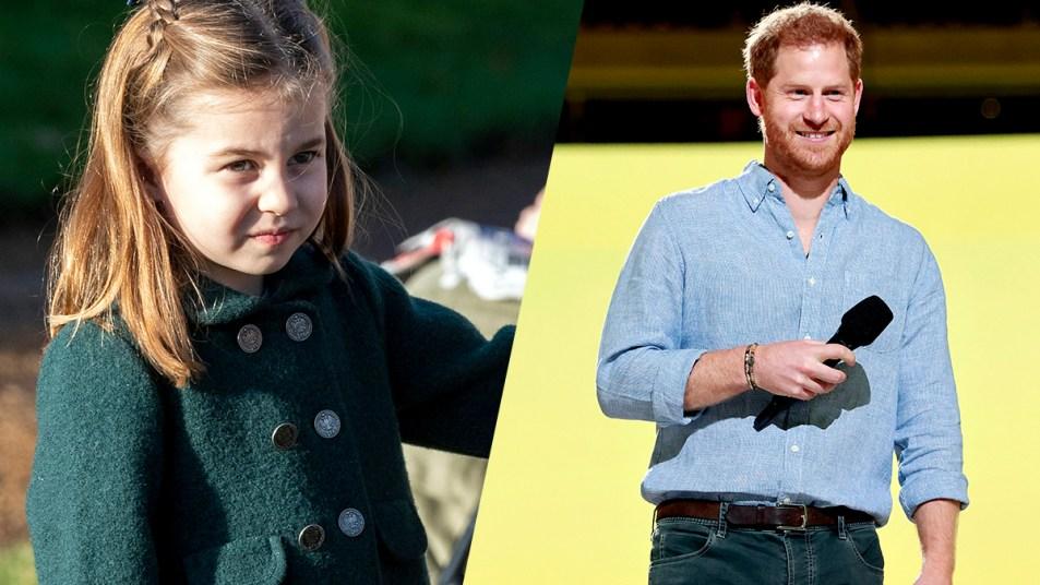 Princess Charlotte and Prince Harry