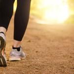 Woman's feet on trail