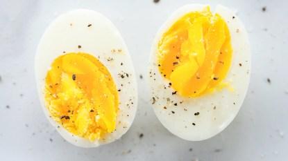 Boiled egg halves
